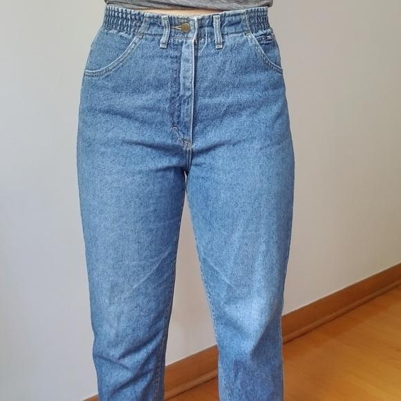 High waisted lee mom jeans